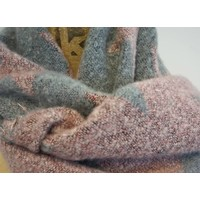 Reversible Star Shawl in  Grey/Pink