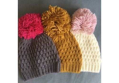 Boardmans Oversized PomPom Knit Hat