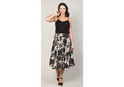 JABA Jaba Florence Skirt in Black Leaf
