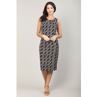 Jaba Emily Dress in Black Triangle