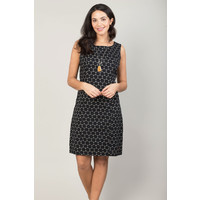 Jaba Nicole Dress in Black Honeycomb