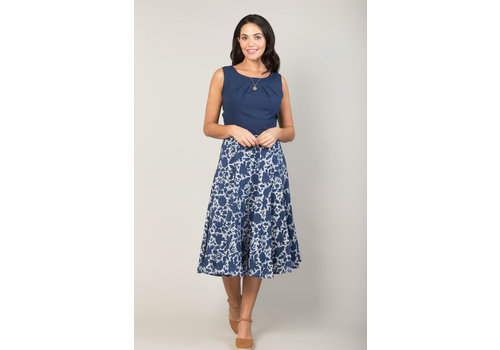 JABA Jaba Florence Skirt in Indigo Flower