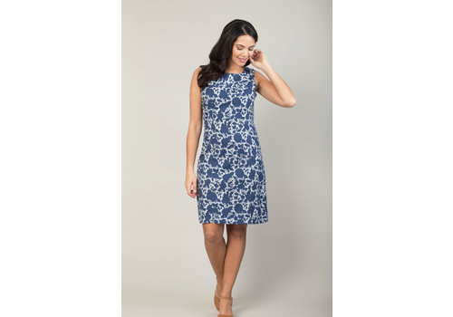 JABA Jaba Nicole Dress in Indigo Flower
