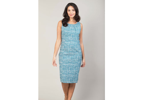 JABA Jaba Emily Dress in Blue Grid