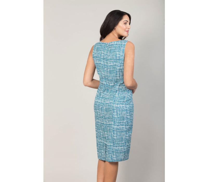 Jaba Emily Dress in Blue Grid