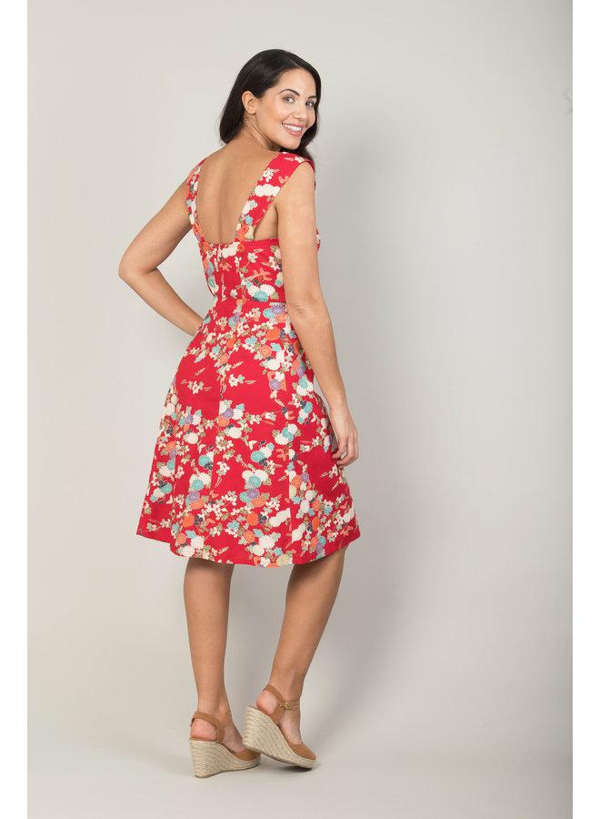 Jaba Sun Dress in Japanese Floral