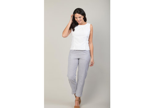 JABA Jaba Juls Trousers in  Chambray Stripe