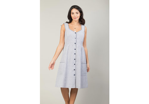 JABA Jaba Sun Dress in  Chambray Stripe