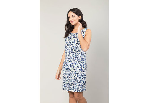 JABA Jaba Audri Dress in Blue Ink Spot
