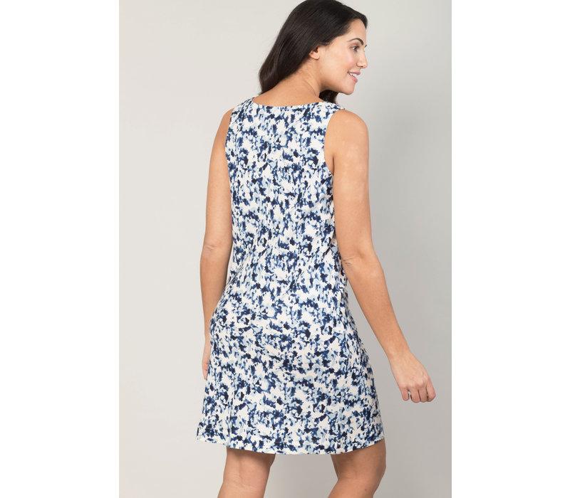 Jaba Audri Dress in Blue Ink Spot
