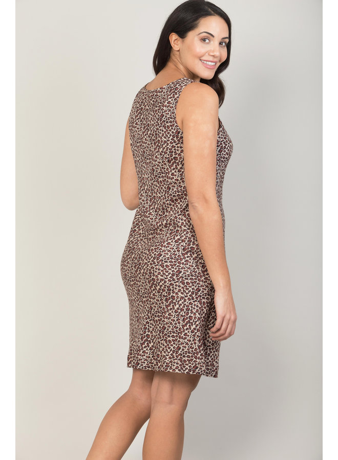 Jaba Audri Dress in Leopard