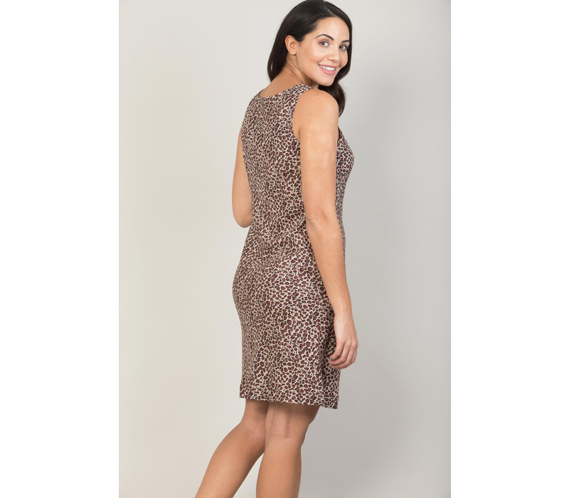 Jaba Audri Dress in Leopard