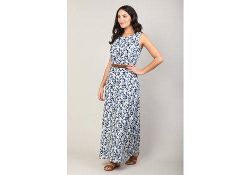 JABA Jaba Naomi Maxi in Blue Ink Spot