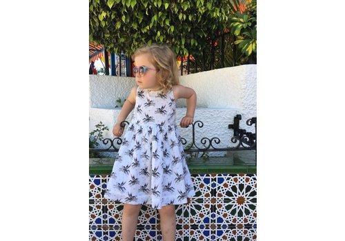 JABA Jaba Kids Lauren Dress in White Unicorn
