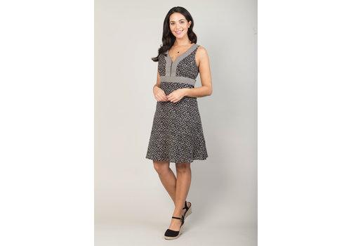 JABA Jaba Kat Dress in  Black Crackle Print