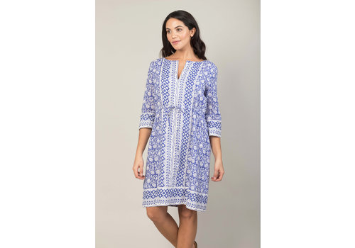 JABA JABA Grace Dress in Tile Block Print