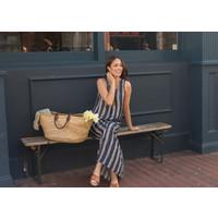 Jaba Maxi Dress in Blue/White Stripe