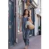 JABA Jaba Maxi Dress in Blue/White Stripe