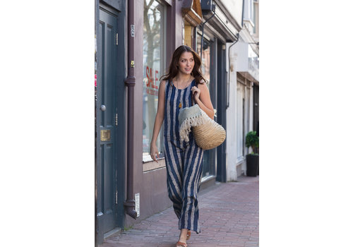 JABA Jaba Maxi Dress - Blue/White Stripe
