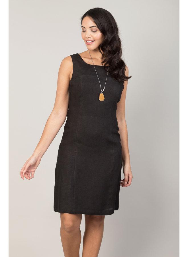 Jaba Nicole Linen Dress in Black