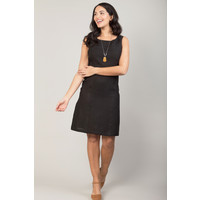 Jaba Nicole Linen Dress in Black