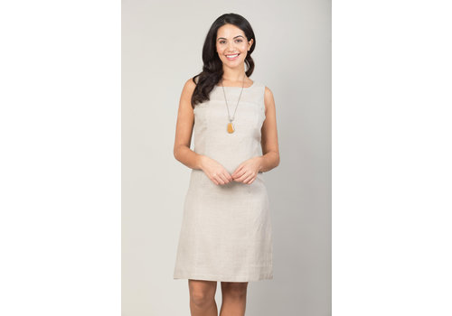 JABA Jaba Nicole Linen Dress in Stone