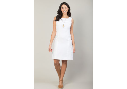 JABA Jaba Nicole Linen Dress in White