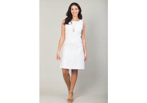 JABA Jaba Nicole Linen Dress in White