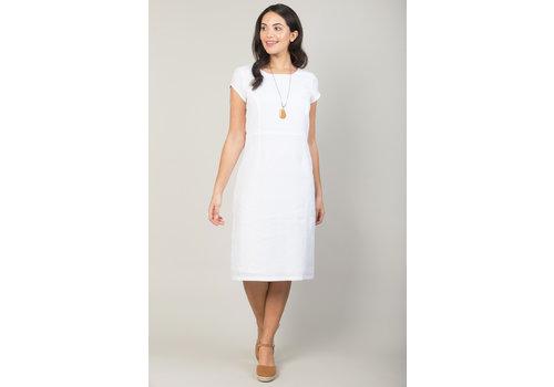JABA Jaba Long Linen Camile Dress in White