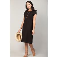 Jaba Long Linen Camile Dress in Black