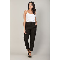 Jaba Jules Linen Trousers in Black
