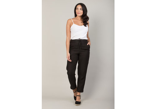 JABA Jaba Juls Linen Trousers in Black
