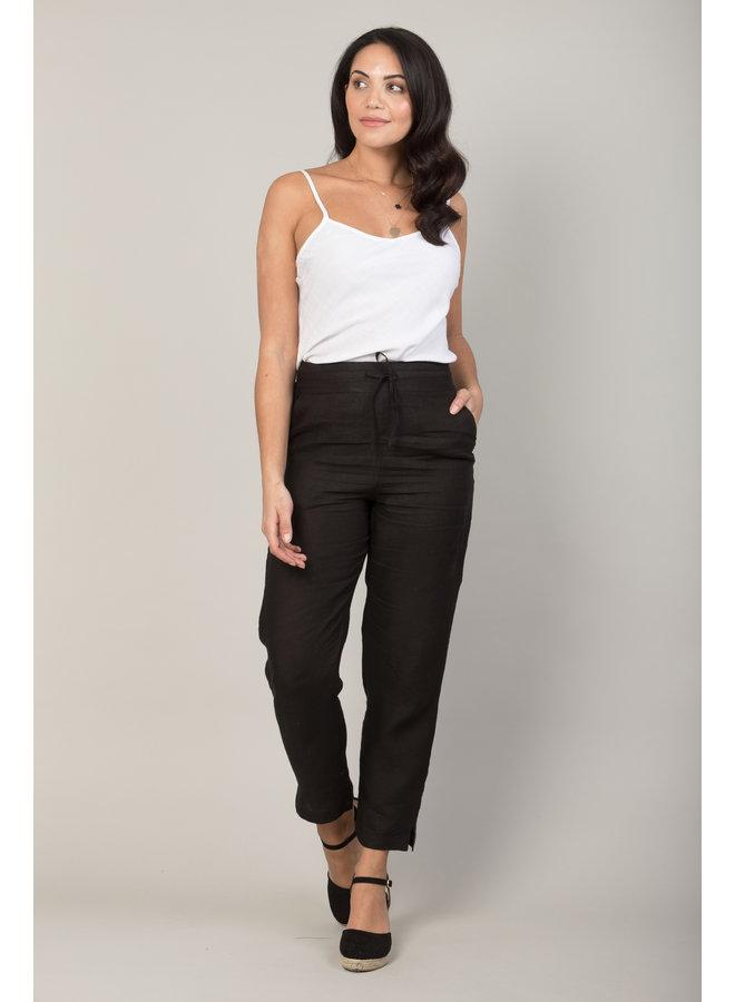 Jaba Juls Linen Trousers in Black