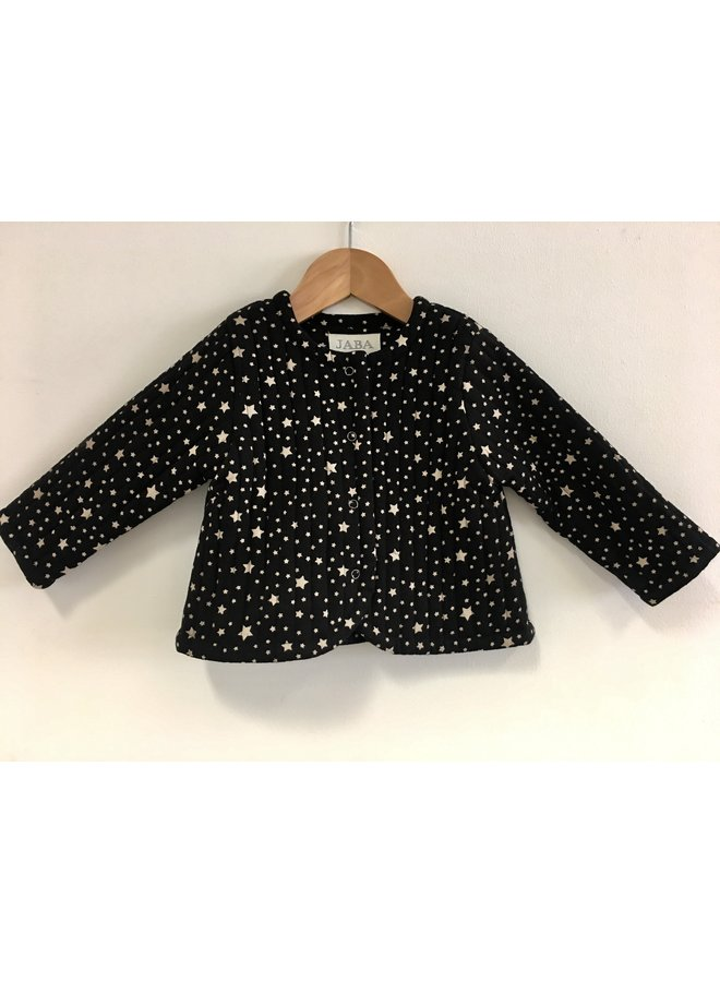 Jaba Kids Tabitha Jacket in Stars Black