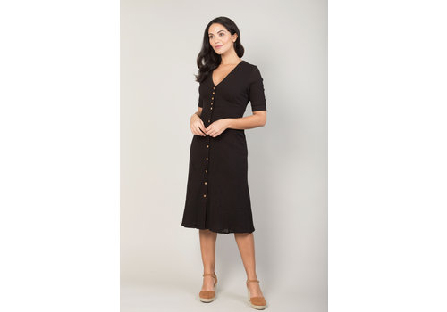 JABA Jaba Mia Dress in Black Crepe
