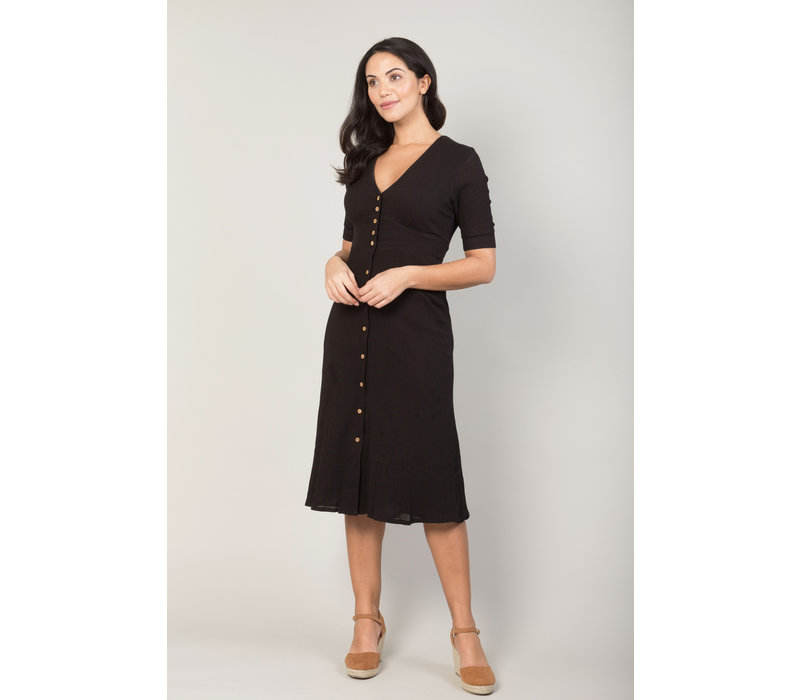 Jaba Mia Dress in Black Crepe