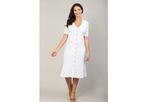 JABA Jaba Mia Dress in White Crepe