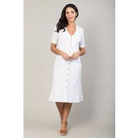 Jaba Mia Dress in White Crepe