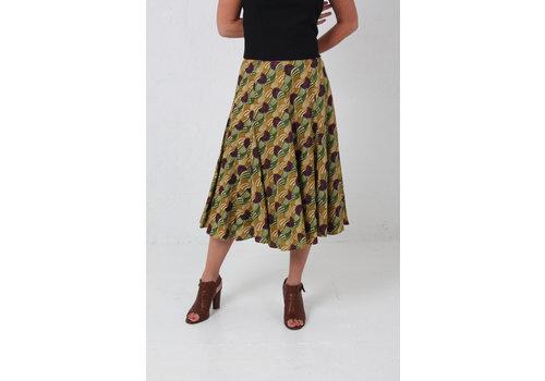 JABA JABA Florence Skirt in Vintage Wave Green