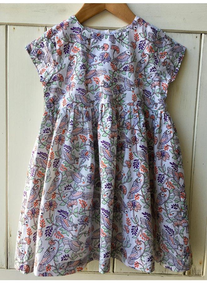 Jaba Kids Thea Dress in Bird Print
