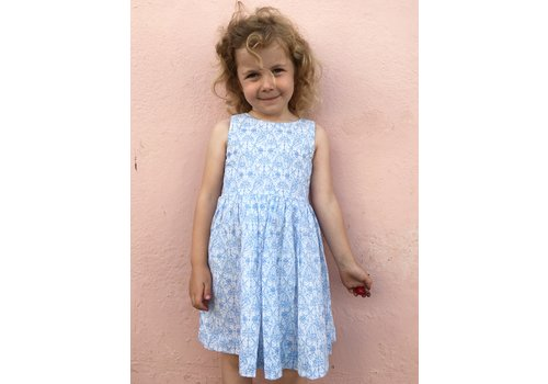 JABA Jaba Kids Amelie Dress Blue Flower