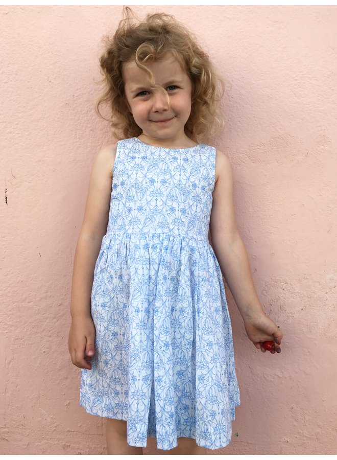 Jaba Kids Amelie Dress Blue Flower