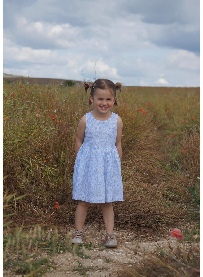 Jaba Kids Amelie Dress in Blue Flower
