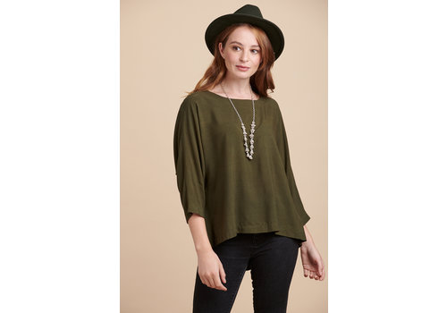JABA Jaba Edie Top in Olive Green