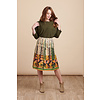 JABA Jaba Penny Skirt in Retro Art Print