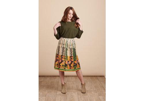 JABA Jaba Penny Skirt in Retro Art Print