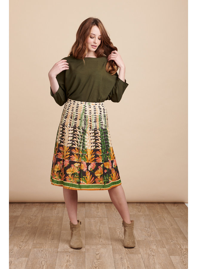 Jaba Penny Skirt in Retro Art Print