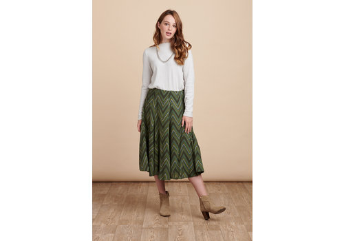 JABA Jaba Florence Skirt in Zig Zag Green