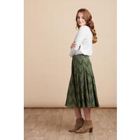 Jaba Florence Skirt in Zig Zag Green