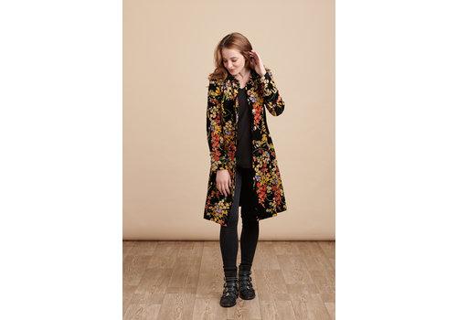 JABA Jaba Velvet Coat in Black Bouquet